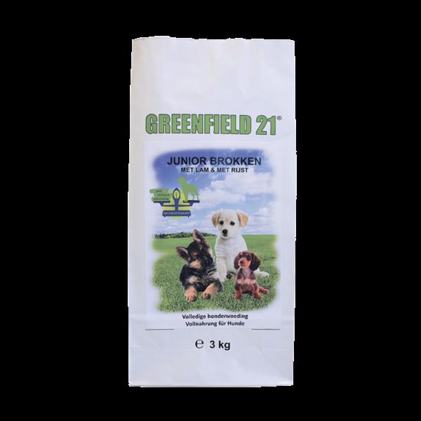 Morsink Dier & Hobby - greenfield 21 lam rijst junior 3 kg 001240 greenfield 21 lam rijst junior 3 kg greenfield 21 puppy junior is afgestemd op de beh jpg