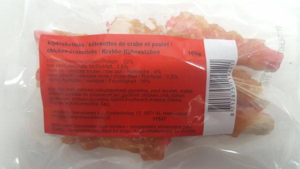 Morsink Dier & Hobby - kipkrabsticks 100 gram info