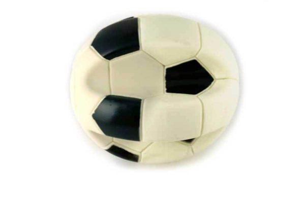 Morsink Dier & Hobby - vinyl voetbal ingedeukt 1