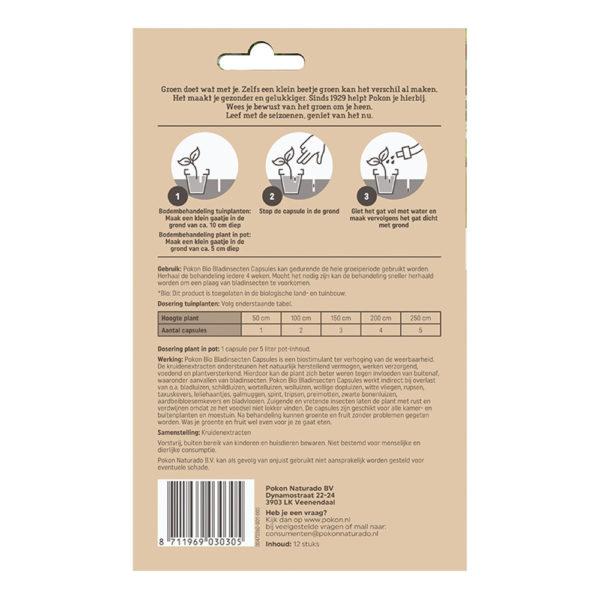 Morsink Dier & Hobby - Capsules tegen bladinsecten achterzijde
