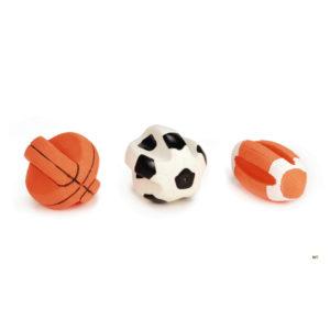 Ingedeukte sportbal met piep groot